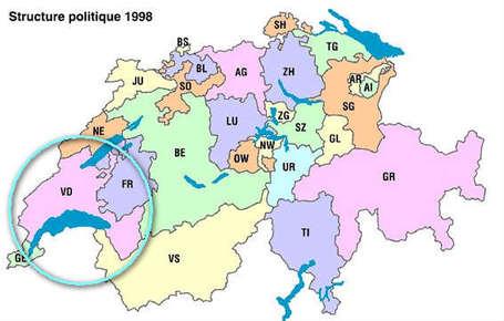 cantons suisses carte